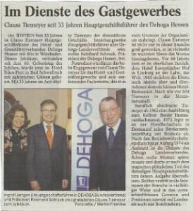 Clauss Tiemeyer Ehrung zum 60. Geburtstag
